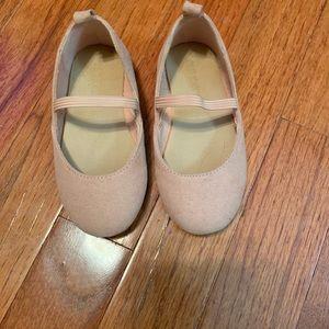Blush suede shoes